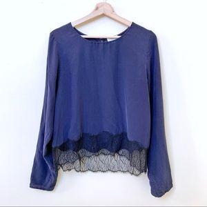 3/$50 Wilfred Desaix Silk Blouse